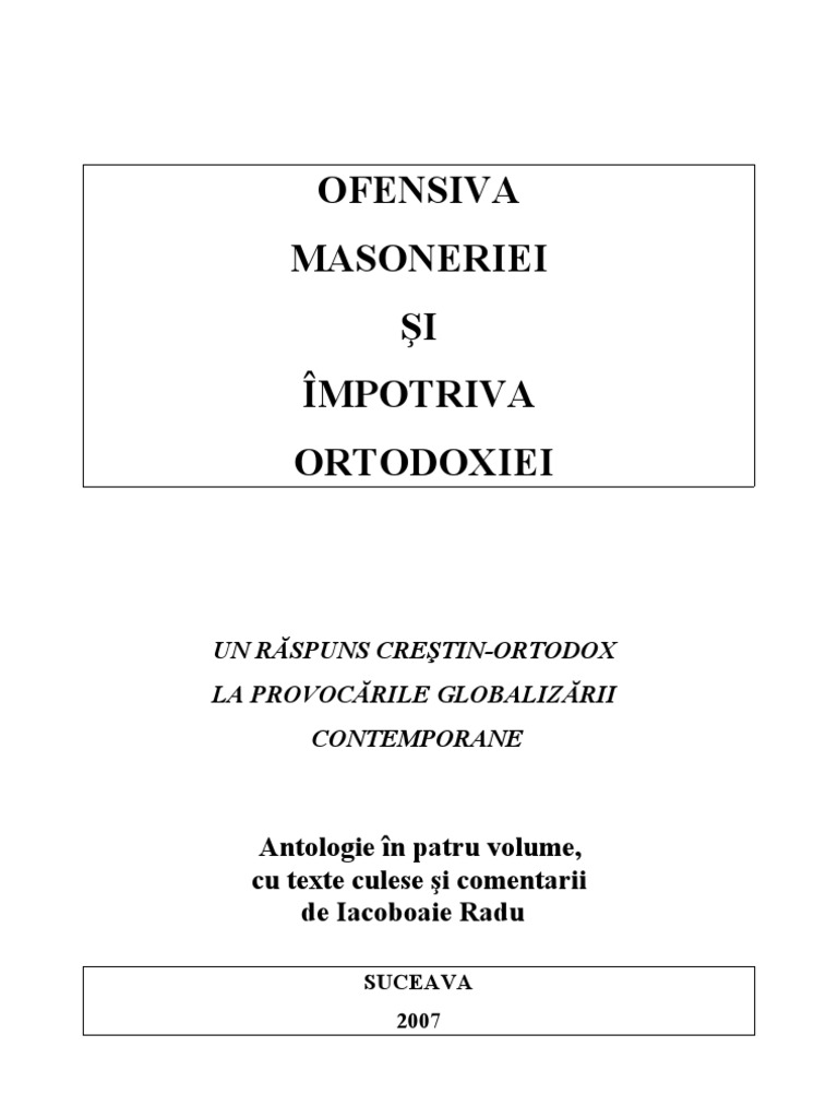 Az ortodoxia, mint parazita