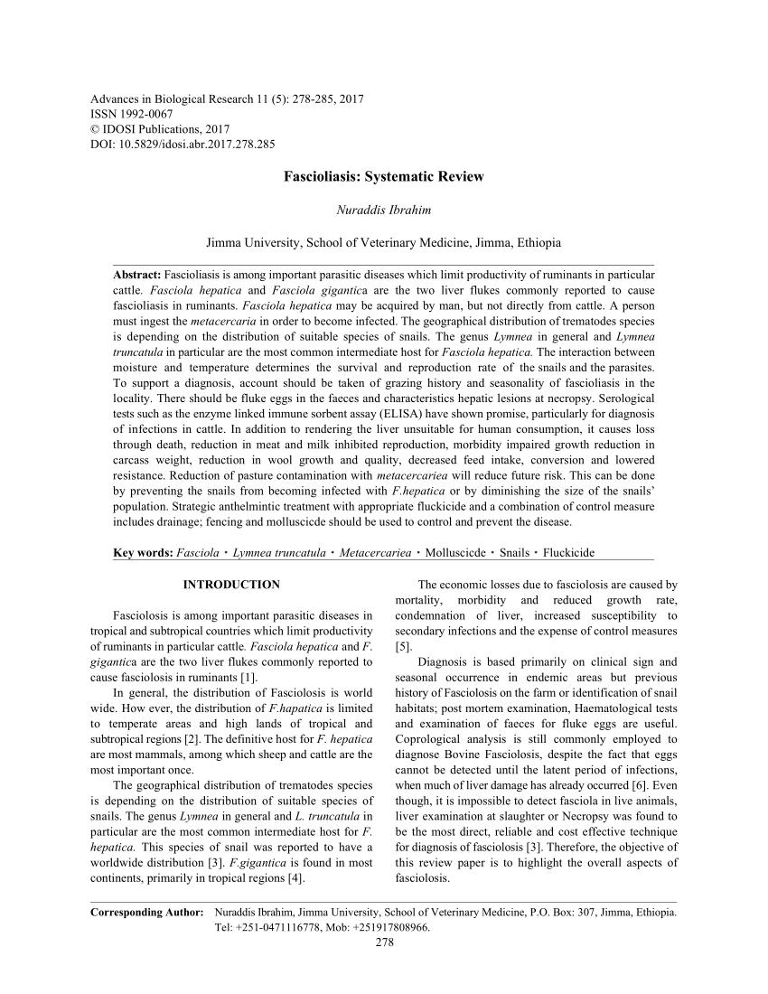 A hús fascioliasis és dikroceliosis vizsgálata